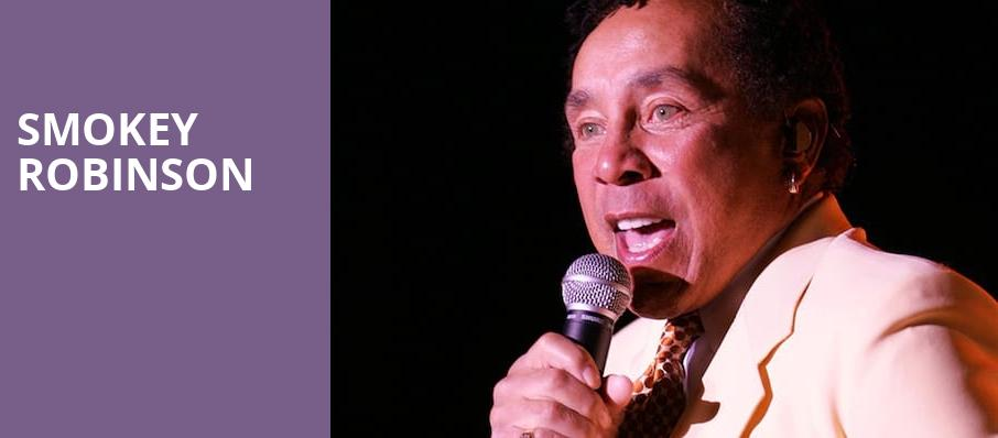Smokey Robinson, Mead Theater, Dayton